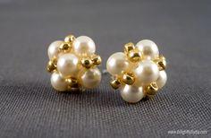 Delightfully DIY: Vintage Inspired Pearl Earrings
