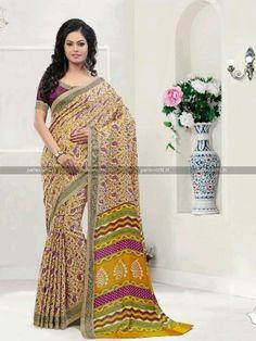 Beige N Magenta Pashmina Printed Casual Saree