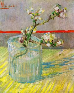 Vincent van Gogh Sprig of Flowering Almond Blossom in a glass painting for sale, this painting is available as handmade reproduction. Shop for Vincent van Gogh Sprig of Flowering Almond Blossom in a glass painting and frame at a discount of off. Vincent Van Gogh, Van Gogh Museum, Art Van, Flores Van Gogh, Van Gogh Flowers, Van Gogh Arte, Van Gogh Pinturas, Almond Blossom, Van Gogh Paintings