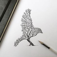 Bird Tree Something so simple can create a bird. a image that you really need to…