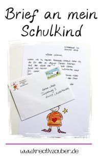 The 4 best craft ideas for school-Die 4 besten Bastelideen zur Einschulung Imp letter to my school child. As a gift and surprise for the first day of school.