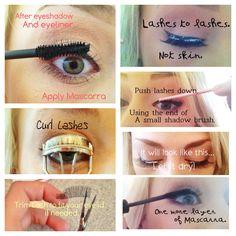 Tips for applying false eyelashes!