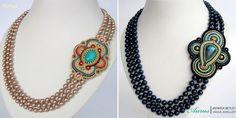 Ожерелья Aurus Jadwiga Shibori, Beaded Necklace, Ribbon, Jewelry, Fashion, Beaded Collar, Tape, Moda, Jewlery