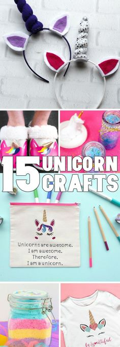 15 Unicorn Crafts That'll Blow Your Mind : Holy Moley! These unicorn crafts are so cute I just want to eat them--well, make them. Craft Projects For Kids, Fun Crafts For Kids, New Crafts, Craft Activities For Kids, Crafts To Sell, Holiday Crafts, Easy Crafts, Diy And Crafts, Easy Diy