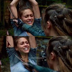 """#The100 2x09 """"Remember Me"""" - Raven and Lexa"""