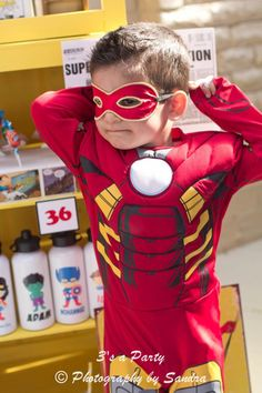 Superhero Super Hero Avengers Themed Birthday Party via Kara's Party Ideas