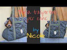 Borsa trasportino per cani - Dog carrier bag - YouTube