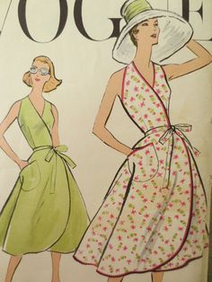 Vintage Vogue 9197 Sewing Pattern 1950s Wrap by sewbettyanddot, $24.50