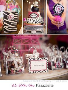 Zebra party - Custom DIY printable favor tags. $12.00, via Etsy.