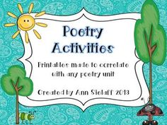 Poetry Activities Freebie