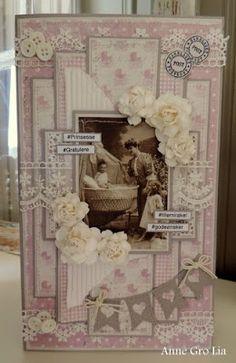 Dåpskort Anne Gro Lia Maja Design Flower Cards, Paper Flowers, Vintage Cards, Vintage Photos, Paper Art, Paper Crafts, Etiquette Vintage, Baby Barn, Mixed Media Cards