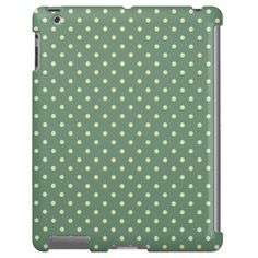Country Green/Light Cream Polka dot pattern.  Protect your mobile device with grace. Super trendy-country chic colors for great eye-pleasing effect. So cute!