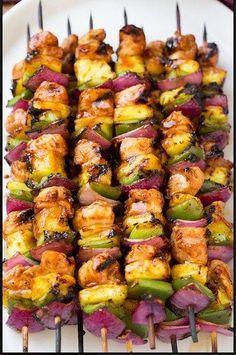 Hawaiian Chicken Kebabs | Food And Cake Recipes