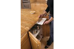 The DrawerVac extends a home's central vacuum system to the countertop.