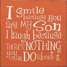 I smile...I laugh ; )