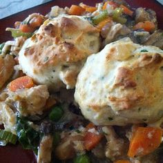 Laurie's Cravings: Baked Chicken Pan Pie w/ Drop Biscuits