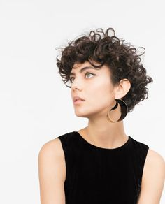 Well, one of the most trendy haircuts this year is the pixie haircut. Short Curly Cuts, Short Curly Haircuts, Curly Hair Cuts, Short Haircut, Wavy Hair, Curly Hair Styles, Shaved Curly Hair, Short Curls, Pretty Hairstyles