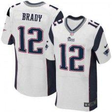 e9d90c03c Men s White NIKE Elite New England Patriots  12 Tom Brady NFL Jersey 129.99  Patriots Team