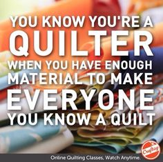 Oh que oui! I'm a quilter!