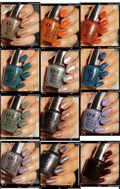 Opi Nail Polish Colors, Fall Nail Polish, Fall Acrylic Nails, Nail Colors, Colours, Bad Nails, Pearl Nails, Great Nails, Nail Polish Collection