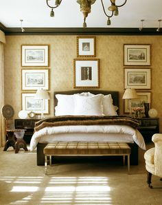 Beautiful Golden Master Bedroom.  DAN CARITHERS ~ OLDIE BUT GOODIE