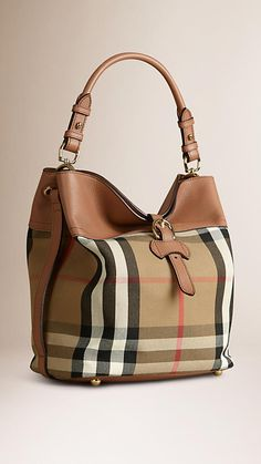 Burberry Medium Buckle Detail House Check Hobo Bag 54c3f37a3aae9