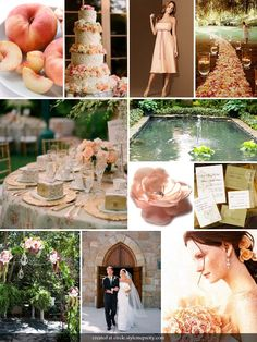 Peach and Champagne, romantic, vintage  colours
