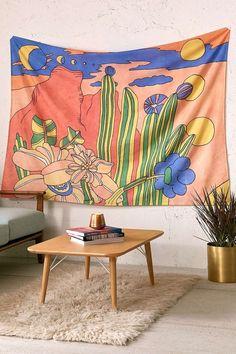 Retro Desert Landscape Tapestry - Urban Outfitters