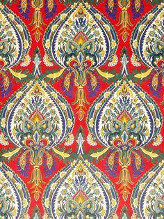 Original retro wallpaper vinyl wallcovering from the sixties seventies - A unique collection of original to wallpapers for sale! Wallpaper For Sale, Retro Wallpaper, Fabric Wallpaper, Textiles, Textile Prints, Textile Patterns, Indian Block Print, Indian Prints, Paisley