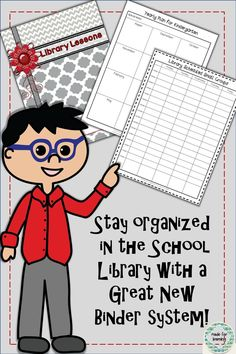 A school librarian is in charge of SO many things! Keep it all organized with a great binder system. $