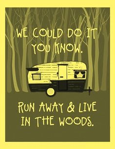 I'd love to run away to the woods :)  via The Road to Glamperland