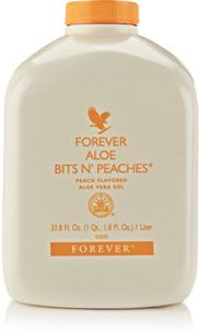 Forever Bits n Peaches For a thicker, more succulent texture, try Forever Bits n' Peaches. This version incorporates pure nutritious pieces of aloe vera, bathed in the flavour of juicy, sun-ripened peach.