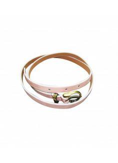 Simple light pink skinny belt