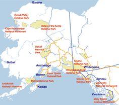 ak cartoon map alaska
