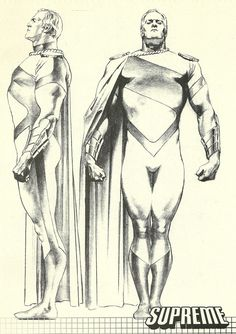 Supreme from the Supreme Sketch Book Comic Book Artists, Comic Books Art, Comic Art, Comic Character, Character Concept, Character Design, Alex Ross, Norman Rockwell, Superman