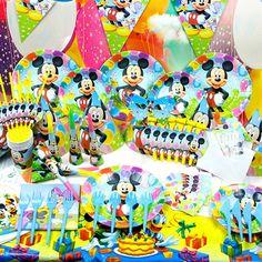 儿童生日派对用品创意套装生日装扮用品 卡通系列米奇主题 6人装-淘宝网