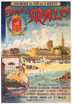 Tendance Joaillerie 2017 – Vintage Travel and Tourism Ads of the Tendance & idée Joaillerie Description Saint Malo , Bretagne, france . Retro Advertising, Vintage Advertisements, Vintage Ads, Tourism Poster, Poster Ads, Travel Ads, Travel And Tourism, Vintage Travel Posters, Vintage Postcards