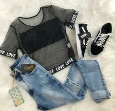 Prêt-à-porter-Outfits für Damen - Mode Frauen Teenage Outfits, Teen Fashion Outfits, Outfits For Teens, Girl Fashion, Womens Fashion, Ootd Fashion, Fashion Clothes, Tumblr Fashion, Woman Outfits