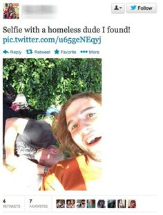 Neuer Trend: Selfies with Homeless People