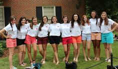 looking great in panhellenic tees & shorts ;)