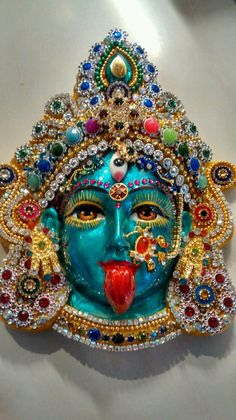 HINDU GODDESS KALI FACE MASK/PLAQUE/HANGING in Collectables, Religion/ Spirituality, Hinduism | eBay