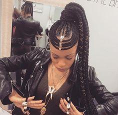 Braids Really Cool African Hairstyles African Braids Hairstyles, Ponytail Hairstyles, Hairstyles With Bangs, Trendy Hairstyles, African Braids Styles, Black Hairstyles, Black Girl Braids, Braids For Black Hair, Girls Braids