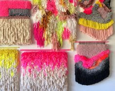 weaving & embroidering by jujujust on Etsy