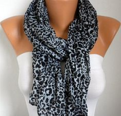 Leopard Women Shawl Scarf  Headband Necklace Cowl by fatwoman, $13.50