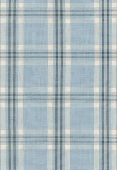 #Schumacher Wilton Cotton Plaid 63015 Chambray/Indigo; Guest Bedroom #1 Accent Fabric
