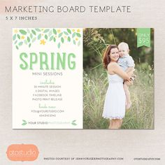 Mini Session Photography Marketing board  Spring by OtoStudio, $7.50