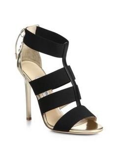 Jimmy Choo - Vanisa Leather & Calf Hair Strappy Mules - Saks.com