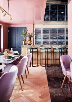 Mount Babylon's new tasting lounge is a plush pink dream