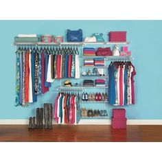 Homefree Series 10 Ft Adjule Mount Wire Shelving Kits Closet Wall Tiny