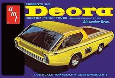 Alexander Bros. 1967 Dodge Deora custom concept truck model kit 1/25